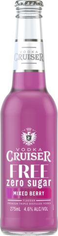 null Vodka Cruiser No Sugar Mixed Berry Btl 4x275ML