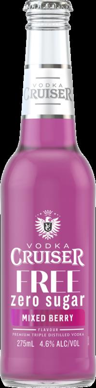 null Cruiser Vodka & No Sugar Mx/Bry Bottle 24X275ML