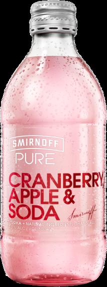 null Smirnoff Pure C/Berry Apple & Soda Bottle 4X300ML