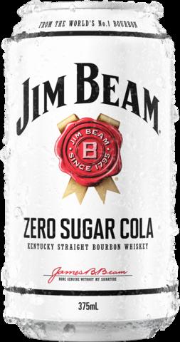 Jim Beam Bourbon & Zero Sugar Cola 10 x 375mL Cans