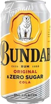 null Bundaberg Rum UP & Cola No Sugar 4.6% Can 24X375ML