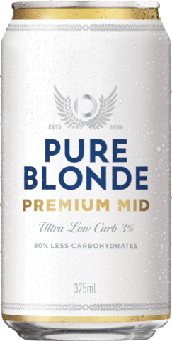 null Pure Blonde Mid Can 6X375ML