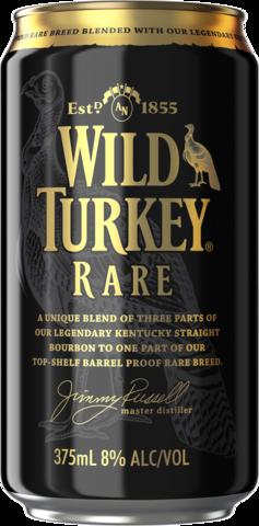 null Wild Turkey Rare & Cola 8% Can 10X375ML