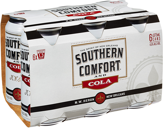 null Southern Comfort & Cola Can 6X375ML