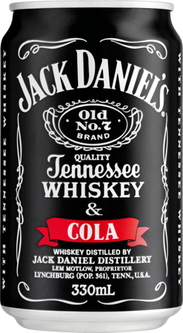 null Jack Daniels Tennessee Whiskey & Cola Can Cube 24X330ML