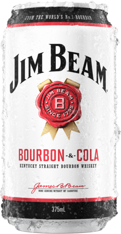 null Jim Beam White Label Bourbon & Cola Can 24X375ML