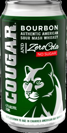 null Cougar Bourbon & Zero Cola Can 6X375ML