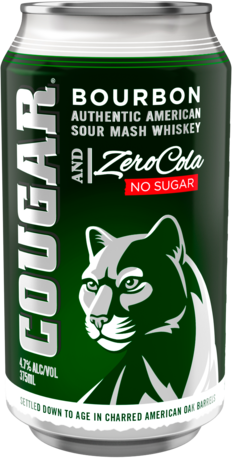 null Cougar Bourbon & Zero Cola Can 24X375ML
