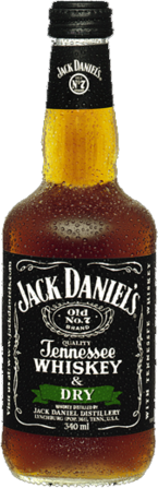 null Jack Daniels Tennessee Whiskey & Dry Bottle 4X340ML