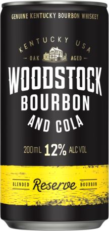 null Woodstock Bourbon & Cola 12% Can 4X200ML