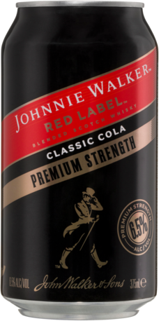 null Johnny Walker Scotch Premium Can 4X375ML
