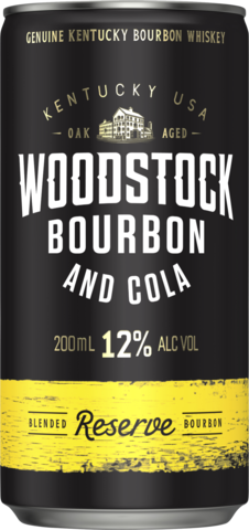 null Woodstock Bourbon & Cola 12% 6 x 4 x 200ml
