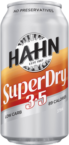 null Hahn Super Dry 3.5% Can 6X375ML