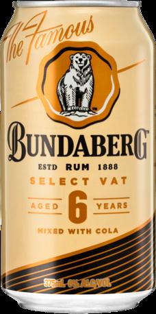 null Bundaberg Rum Vat Cola Can 24X375ML