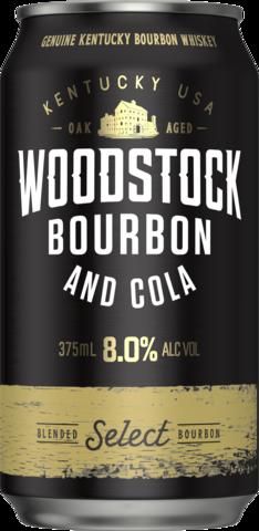 null Woodstock Bourbon & Cola 8% 6 x 4 x 375ml