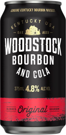 null Woodstock Bourbon & Cola 8% Can 4X375ML