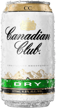 null Canadian Club & Dry 4.8% Can 4X375ML