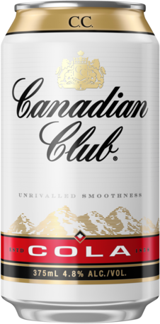 null Canadian Club & Cola 4.8% Can 4X375ML
