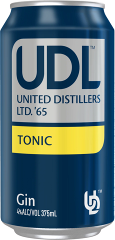 null UDL Gin Tonic Can 6X375ML