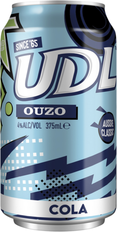 null UDL Ouzo Cola Can 6X375ML