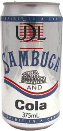 null UDL Sambucca Can 6X375ML