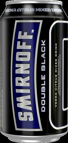 null Smirnoff Double Black Ice Can 4X375ML