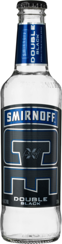 null Smirnoff Double Black Ice Bottle 24X300ML