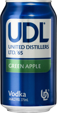 null UDL Vodka Apple Can 24X375ML