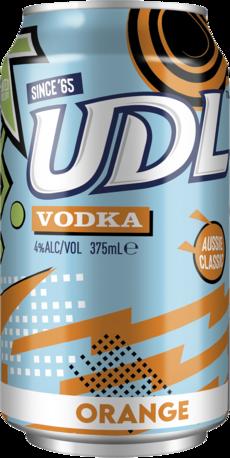 null UDL Vodka Orange Can 24X375ML