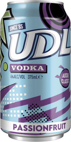 null UDL Vodka Passionfruit Can 24X375ML