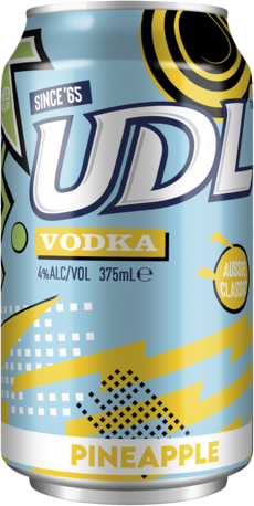 null UDL Vodka Pineapple Can 6X375ML
