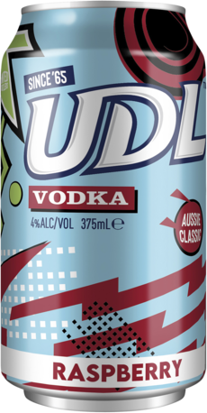 null UDL Vodka Raspberry Can 6X375ML