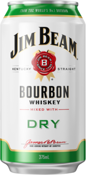 null Jim Beam White Label Bourbon & Ginger Beer Can 24X375ML
