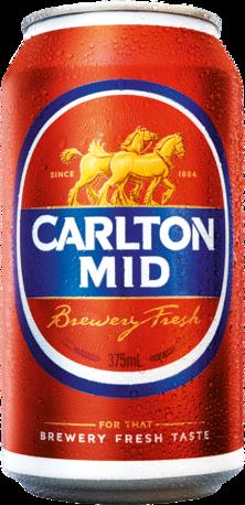 null Carlton Mid Can 24X375ML