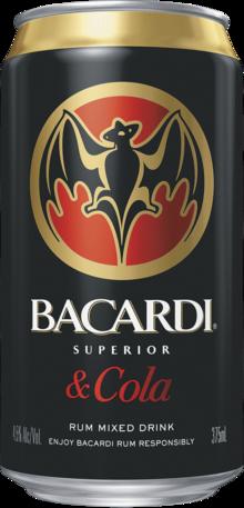 null Bacardi Rum & Cola Can 4X375ML