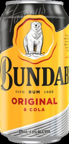 null Bundaberg Rum UP & Cola 4.6% Can 1X375ML
