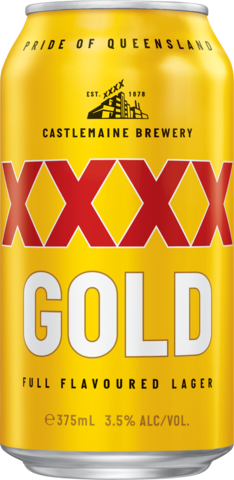 null XXXX Gold Can 6X375ML