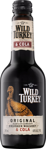 null Wild Turkey Bourbon & Cola 4.8% Bottle 24X340ML