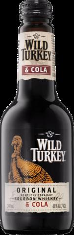 null Wild Turkey Bourbon & Cola 4.8% Bottle 4X340ML