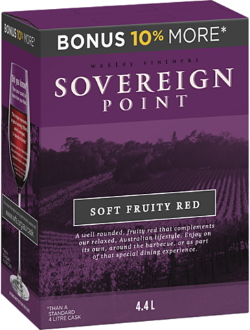 null Sovereign Pt Fruity Red Cask 4LT