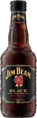 null Jim Beam Black Label Bourbon & Cola Btl 4X330ML