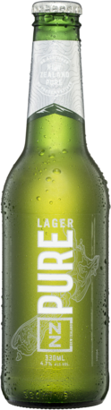 null NZ Pure Lager 4.7% Bottle 24X330ML