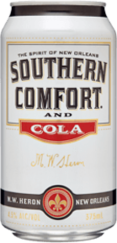null Southern Comfort & Cola Can 4X375ML