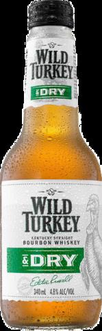 null Wild Turkey Bourbon & Dry 4.8% Bottle 4X340ML