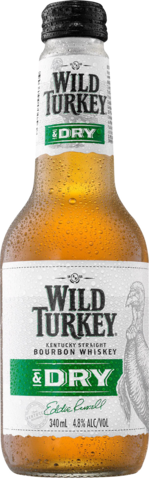 null Wild Turkey Bourbon & Dry 4.8% Bottle 24X340ML