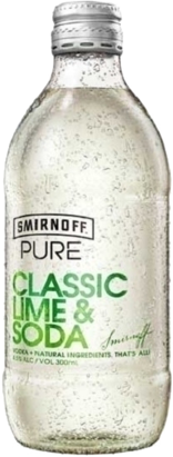null Smirnoff Pure Lime & Soda Bottle 24X300ML