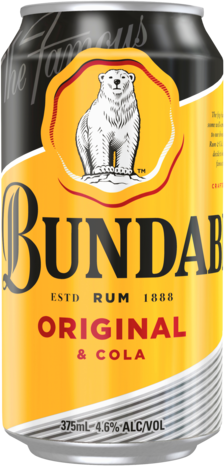 null Bundaberg Rum UP & Cola 4.6% Can 4X375ML
