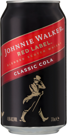 null Johnny Walker Scotch & Cola Can 4X375ML