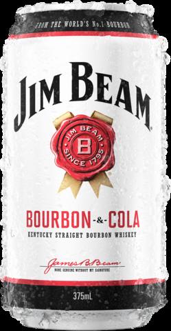 null Jim Beam White Label Bourbon & Cola Can 4X375ML