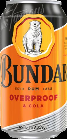 null Bundaberg Rum OP & Cola 6% Can 6X375ML